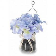 Viorele in vaza albastru