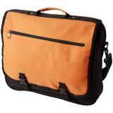 Geanta de conferinte, buzunar frontal, curele ajustabile, Everestus, AE, 600D poliester, portocaliu, saculet si eticheta incluse