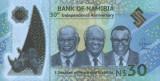 NAMIBIA █ bancnota █ 30 Dollars █ 2020 █ POLYMER █ COMEMORATIV █ UNC █