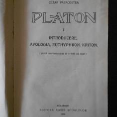 PLATON - INTRODUCERE, APOLOGIA, EUTHYPHRON, KRITON, BANCHETUL SI PHAIDON (1930)