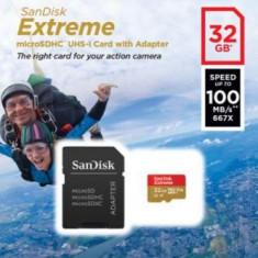 Card de memorie SanDisk Extreme, 32GB, pana la 667 MB/s