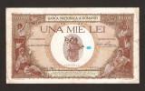 ROMANIA  1000 LEI  - 1939  CU SUPRATIPAR !  Stare foarte buna