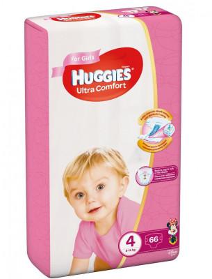 Scutece Huggies Ultra Confort Mega Pack 4, Fete, 8-14 kg, 66 buc foto