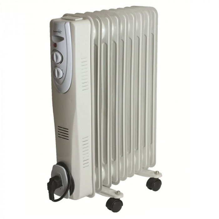 Radiator cu ulei, 9 elementi, 1500w, termostat, protectie supraincalzire