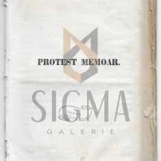 I. GHICA, GOLESCU, KRETZEANU, KORNESKU - PROTEST MEMOAR