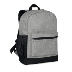 Rucsac anti-furt, 600D poliester, Everestus, RU17, gri, saculet de calatorie si eticheta bagaj incluse