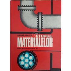 Studiul materialelor. Manual pentru licee industriale, anul I