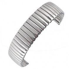 Bratara Ceas Elastica Argintie din Metal 12mm - 22mm WZ249