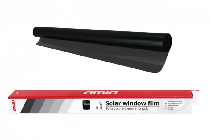 Folie Auto Super Dark Black cu Transparenta 5%, Dimensiune 50x300cm