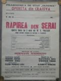 Rapirea din Serai/ afis Filarmonica Oltenia, Opereta din Craiova
