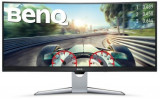 Monitor VA LED Gaming BenQ 35inch EX3501R, UWQHD (3440 x 1440), HDMI, DisplayPort, Ecran curbat, 4 ms (Negru/Argintiu)