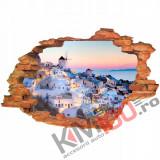 "Sticker ""Wall Crack"" Santorini 14 - 120 x 80 cm"