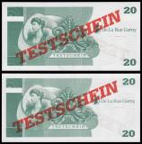 !!! GERMANIA , DE LA  RUE GARNY = ATM TEST NOTE 20 MARCI -  UNC