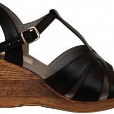 Sandale dama cu talpa ortopedica Ninna Art 119 negru