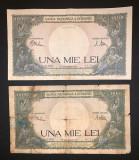 Doua bancnote de 1000 de lei din 10 septembrie 1941