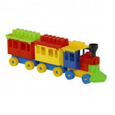 Trenulet cu cuburi, 32,5x6,5x10 cm