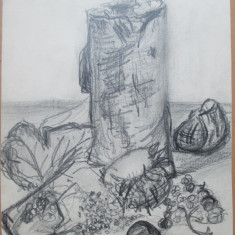 Natura statica cu fructe - semnat  Budae '63