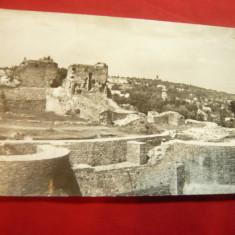 Ilustrata Suceava -Ruinele Cetatii circulat 1964