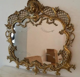 Eleganta oglinda din bronz masiv in stilul Baroc
