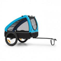 KLARFIT Husky, remorcă de biciclete pentru a transporta câini, cca 250 L, 600D, pânză Oxford, albastru