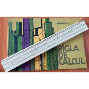RIGLA de CALCUL + MANUAL de UTILIZARE in limba română (I. Irimescu) 1978