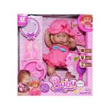 Papusa bebelus, biberon, farfurie, tacamuri si alte accesorii pentru copii