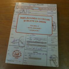 Inselaciunea cu cecuri si bilete la ordin vol. II de Dr. Medeanu Tiberiu /Bianca