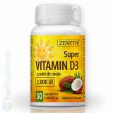 Vitamina D3 ulei cocos 30cps. (imunitate, oase, muschi) Zenyth