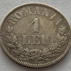 1 Leu 1873 Argint,  Romania  XF+