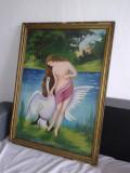 ZEITA LEDA ULEI CARTON-VECHI, Nud, Realism