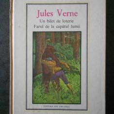 JULES VERNE - UN BILET DE LOTERIE, FARUL DE LA CAPATUL LUMII (1987)