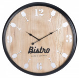 Cumpara ieftin Ceas de perete din MDF, Bistro, 60 cm, rama neagra
