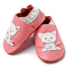 Pantofi cu talpa moale Liliputi Pink Pussycat