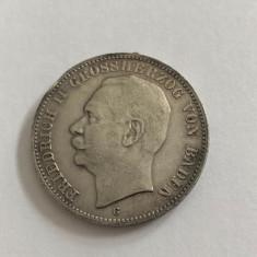 Moneda Argint 3 MARK 1909 G FRIEDRICH II BADEN   Germania