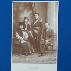 FOTOGRAFIE VECHE TIP CARTE POSTALA , MILITAR , FOTO E. POPP , PLOESTI