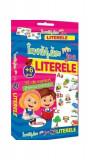 Învățăm prin joc Literele. Cărți de joc educative (+6 ani)