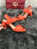 Sandale dama rosii cu toc mic marime   37, 38, 39, 40+CADOU