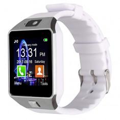 Ceas SmartWatch metalic MediaTek™ - DZ09 White Edition