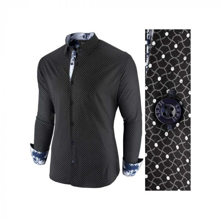 Camasa pentru barbati, negru, slim fit, casual - Epic