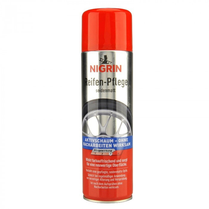 Spray Spuma Activa Curatare Anvelope Auto Nigrin 500ml