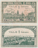 1920 (14 II), 1 centavo (CED.32var.) - Portugalia (Braga)!