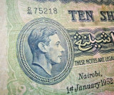 Africa de Est (George VI) 10 Shillings 1952 (Nairobi)