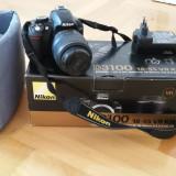 Aparat foto-video DSLR Nikon D3100 + Obiectiv Nikkor VR 18-55