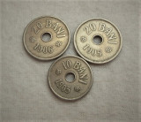 Lot 10-20 bani 1905-1906, 3 buc !