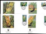 Tanzania - Fauna WWF  - 4 FDC