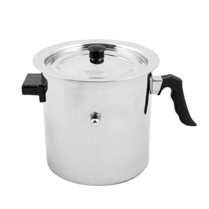 Oala lapte Grunberg GR-1518, 3 litri, capac, pereti dubli