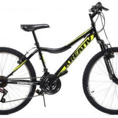 Bicicleta Copii Kreativ 2404, Cadru 15inch (Negru)
