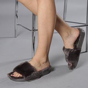 Papuci dama Gloria gri