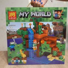 NOU/SIGILAT - Set de 322 piese tip lego Minecraft LELE 33197