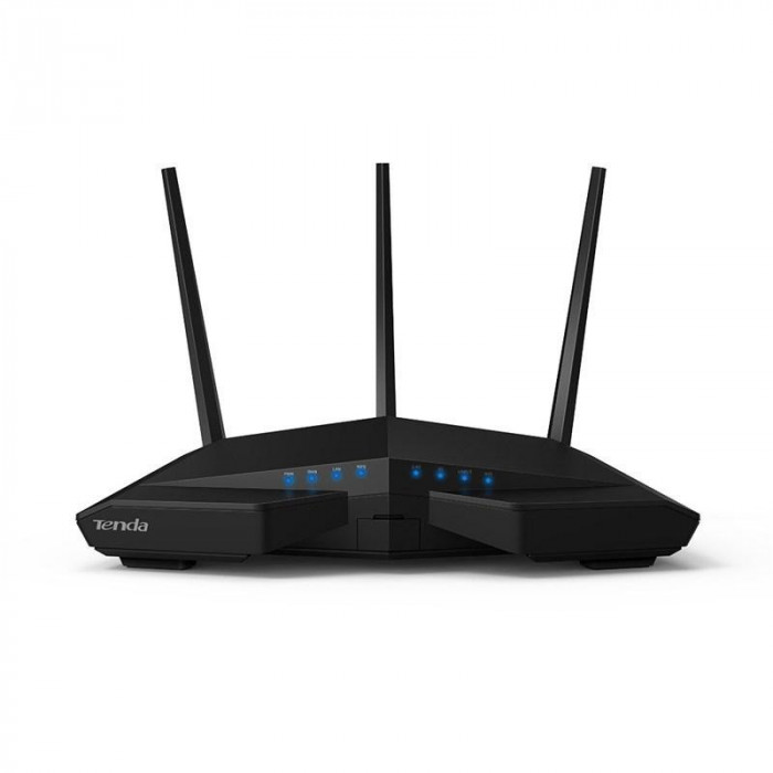 Router wireless tenda ac18 3 antene externe dual band (3*3dbi) ieee 802.11ac/a/n 5ghz ieee 802.11b/g/n